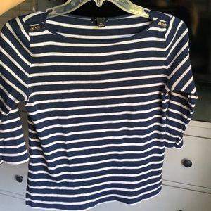 Ann Taylor XS Striped Shirt